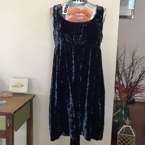 GAP Crushed Velvet dress sz 12